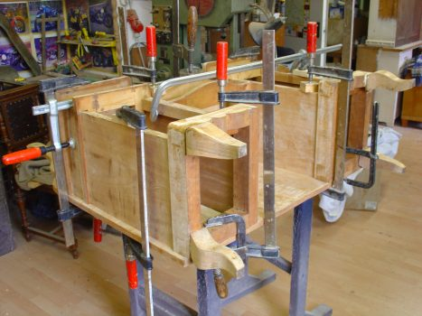 Festigung Rahmenkonstruktion