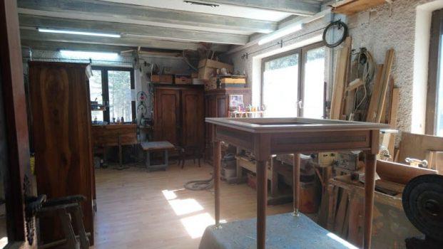 in der Werkstatt - Restaurator Gottfried Kellner