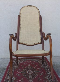 Thonet Sessel mit Geflecht